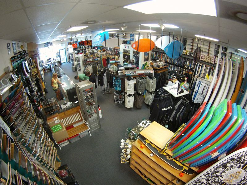 Back of Store and Skimboards
